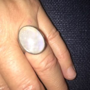 Moonstone Ring ( silver )